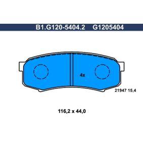 Bremsbelagsatz, Scheibenbremse Breite: 116,2mm, Höhe: 44,0mm, Dicke/Stärke: 15,4mm mit OEM-Nummer 0446660140