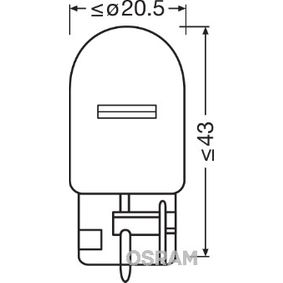 Bulb, indicator W21W, W3x16d, 12V, 21W, ORIGINAL 7505-02B FORD KUGA, RANGER