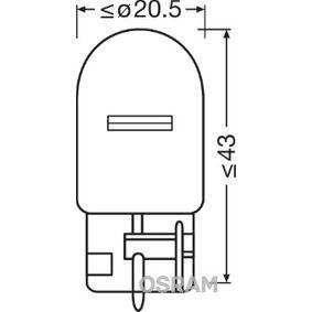 Bulb, indicator 12V 21W, W21W, W3x16d 7505-02B FORD KUGA, RANGER