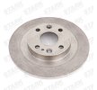 STARK 7880502 Rear Axle, Solid, Uncoated, without wheel hub, without wheel studs