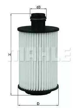 Ölfilter MAHLE ORIGINAL OX1012D 4009026932582