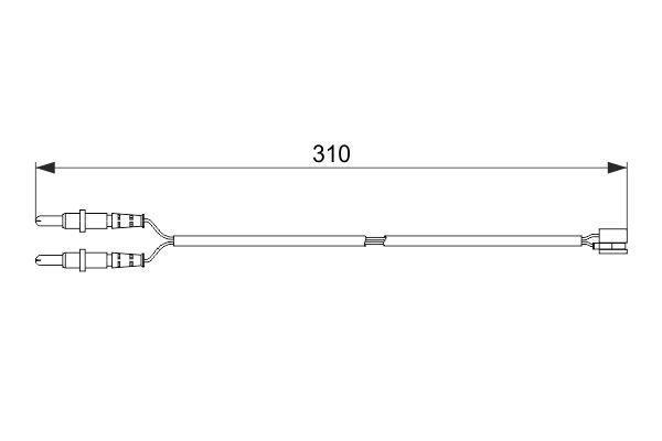 BOSCH  1 987 474 519 Contacto de aviso, desgaste de los frenos Long.: 310mm