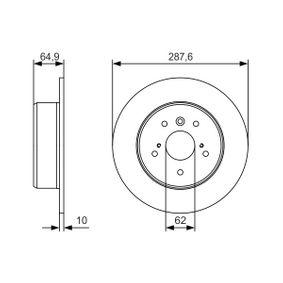 Disque de frein N° de référence 0 986 479 T69 89,00€