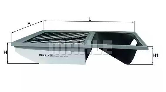 Luftfilter MAHLE ORIGINAL LX 3583 Bewertung