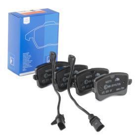 Kit de plaquettes de frein, frein à disque Largeur 2: 116,4mm, Hauteur 1: 58,5mm, Hauteur 2: 59,8mm, Épaisseur: 17,4mm avec OEM numéro 4H0698451D