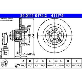 Bremsscheibe Art. Nr. 24.0111-0174.2 120,00€