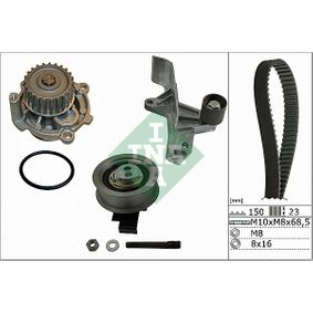 Wasserpumpe + Zahnriemensatz Breite: 23,00mm mit OEM-Nummer 06B.121.011MX