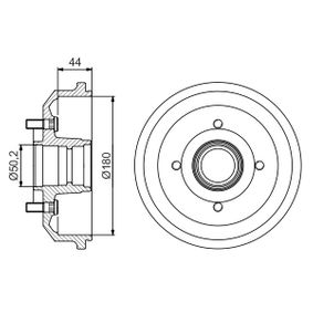 Brake Drum Outer Br. Sh. Diameter: 216mm with OEM Number 4 034 886