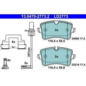 Kit de plaquettes de frein, frein à disque Largeur 2: 116,4mm, Hauteur 1: 58,5mm, Hauteur 2: 59,8mm, Épaisseur: 17,4mm avec OEM numéro 4H0 698 451 D