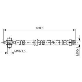 BOSCH  1 987 481 693 Bremsschlauch Länge: 640mm, Innengewinde: M10x1mm