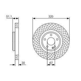BOSCH  0 986 479 A59 Bremsscheibe Bremsscheibendicke: 30mm, Lochanzahl: 5, Ø: 320mm