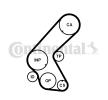 Steuerriemen OPEL Corsa D Schrägheck (S07) 2014 Baujahr HTDA12489525M25 CONTITECH Zähnez.: 131