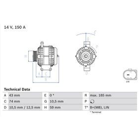 Lichtmaschine mit OEM-Nummer 1 874 992
