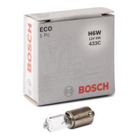 Bulb, tail light H6W, BAX9s, 12V, 6W 1 987 302 809 FORD COUGAR (EC_)