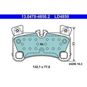 Bremsbelagsatz, Scheibenbremse Breite: 132,1mm, Höhe: 77,0mm, Dicke/Stärke: 16,3mm mit OEM-Nummer 7L0 698 451C