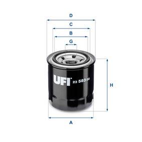 Ölfilter Ø: 80mm, Außendurchmesser 2: 64mm, Innendurchmesser 2: 57mm, Höhe: 88mm mit OEM-Nummer 26300 35531