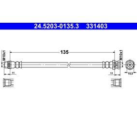 Bremsschlauch 24.5203-0135.3 MEGANE 3 Coupe (DZ0/1) 2.0 R.S. Bj 2016