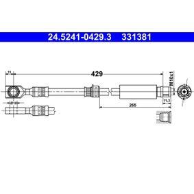 Bremsschlauch 24.5241-0429.3 ZAFIRA B (A05) 1.7 CDTI (M75) Bj 2009