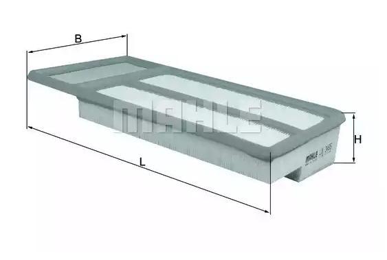 Vzduchový filtr MAHLE ORIGINAL LX 3465 Hodnocení