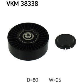 Polea inversión/guía, correa poli V BMW X5 (E70) 3.0 d de Año 02.2007 235 CV: Polea inversión/guía, correa poli V (VKM 38338) para de SKF