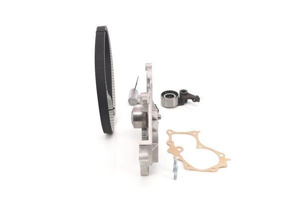 Timing belt kit with water pump BOSCH WASSERPUMPENSET 4047025516549
