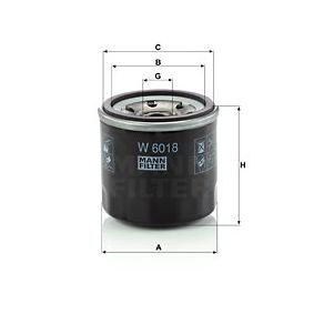 Article № W 6018 MANN-FILTER prices