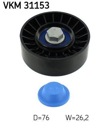 SKF  VKM 31153 Umlenkrolle Keilrippenriemen Ø: 76mm, Ø: 76mm, Ø: 76mm