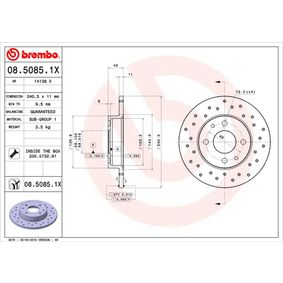 08.5085.1X BREMBO from manufacturer up to - 29% off!