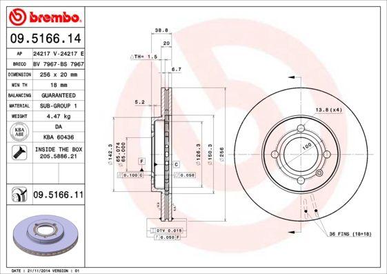 BREMBO 09.5166.11 EAN:8020584210499 Shop