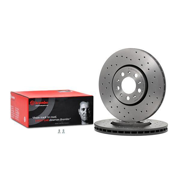BREMBO спирачен диск предна ос, Ø: 288мм, надупчен/ вътр. вентилиран, с покритие 09.7010.2X