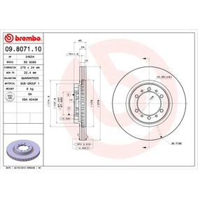 Brake Disc Brake Disc Thickness: 24mm, Num. of holes: 6, Ø: 276mm with OEM Number MB 928697