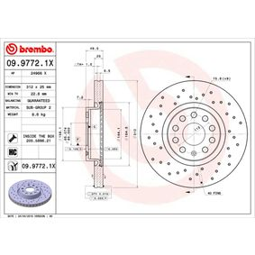 09.9772.1X BREMBO from manufacturer up to - 29% off!