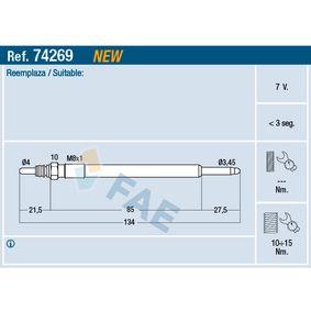 Glühkerze Gewindemaß: 8x1 mit OEM-Nummer D6 07 0054A