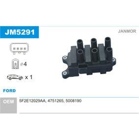 Bobina de encendido JM5291 MONDEO 3 (B5Y) 2.5 V6 24V ac 2005
