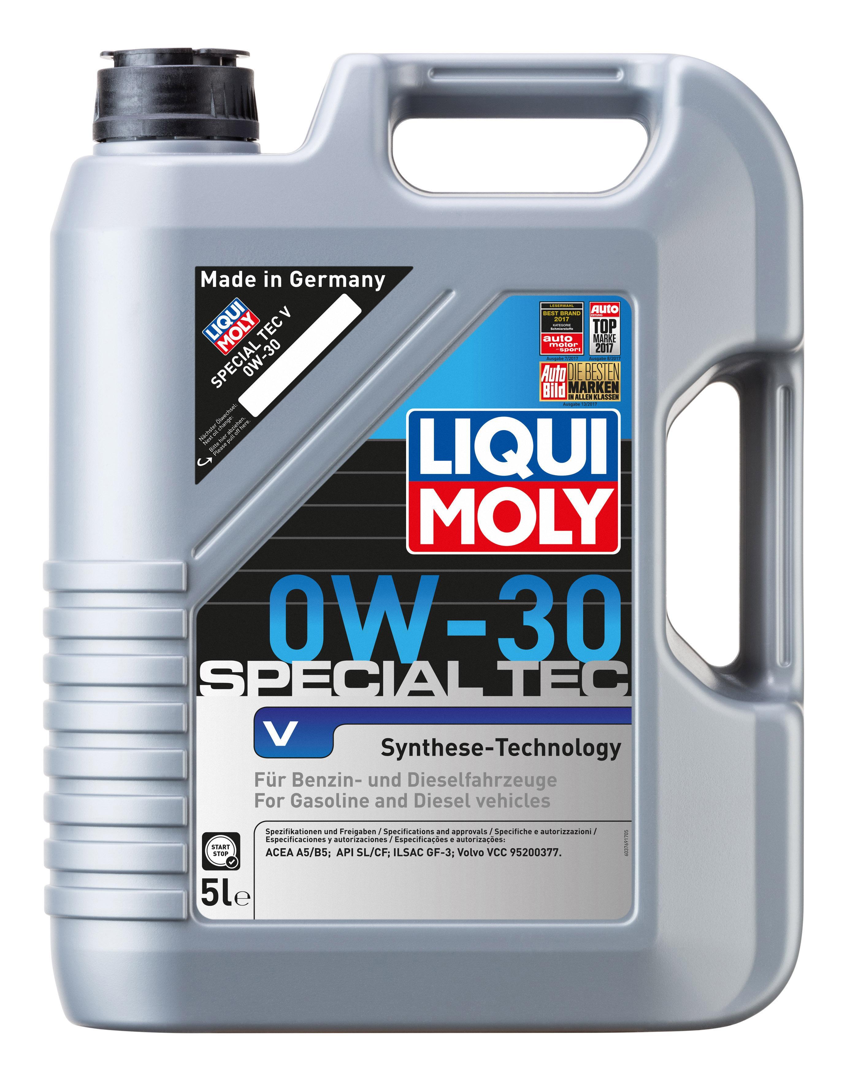 Motoröl 2853 LIQUI MOLY SpecialTecV0W30 in Original Qualität