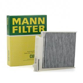 Filter, interior air Length: 185mm, Width: 180mm, Height: 28mm with OEM Number 7711426872