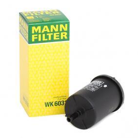 Pedales y Cubre Pedales PEUGEOT 307 SW (3H) 1.6 BioFlex de Año 09.2007 109 CV: Filtro combustible (WK 6031) para de MANN-FILTER
