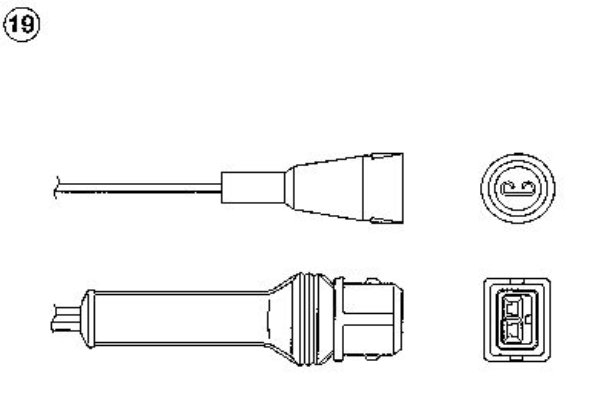 Lambda Sensor 90474 NGK OZA721EE17 in Original Qualität