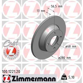 Bremsscheibe Bremsscheibendicke: 13mm, Felge: 4-loch, Ø: 280mm mit OEM-Nummer 8A0.615.301D