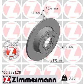 Bremsscheibe Ø: 272mm mit OEM-Nummer 6R0615601