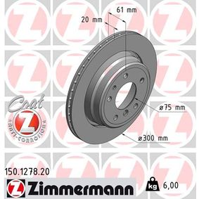 Bremsscheibe Bremsscheibendicke: 20mm, Felge: 5-loch, Ø: 300mm mit OEM-Nummer 3421 1159 659