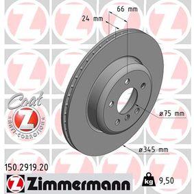 Brake Disc Brake Disc Thickness: 24mm, Rim: 5-Hole, Ø: 345mm with OEM Number 3420 6 797 607