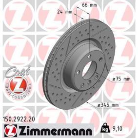 Brake Disc 150.2922.20 3 Saloon (F30, F80) 318d 2.0 MY 2012