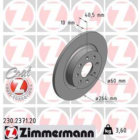 Disco de freno 230.2371.20 GRANDE PUNTO (199) 1.6 D Multijet ac 2013