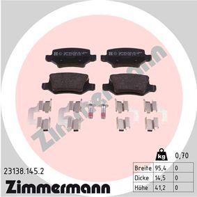 Bremsbelagsatz, Scheibenbremse Breite: 95mm, Höhe: 41mm, Dicke/Stärke: 14mm mit OEM-Nummer A 169 420 1120