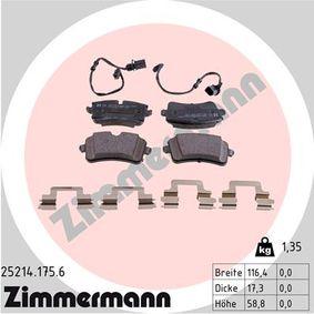 Bremsbelagsatz, Scheibenbremse Breite 1: 116mm, Höhe 1: 60mm, Höhe 2: 59mm, Dicke/Stärke: 18mm mit OEM-Nummer 4H0 698 451D