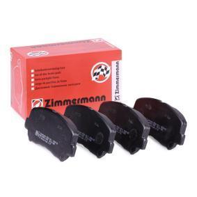 Bremsbelagsatz, Scheibenbremse Breite: 141,9mm, Höhe: 61mm, Dicke/Stärke: 15,8mm mit OEM-Nummer 25564 ZIMMERMANN