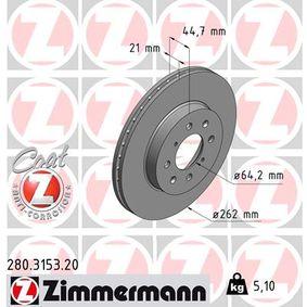 Спирачен диск Ø: 262мм с ОЕМ-номер SDB100600