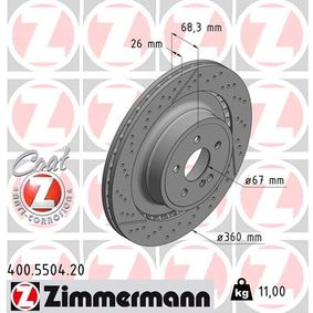 Brake Disc 400.5504.20 E-Class Saloon (W212) E 63 AMG 5.5 4-matic (212.092) MY 2014