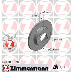 Bremsscheibe Bremsscheibendicke: 12mm, Felge: 4-loch, Ø: 238mm mit OEM-Nummer 6001549211